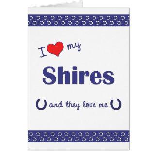 Amo mis condados (los caballos múltiples) tarjeta pequeña