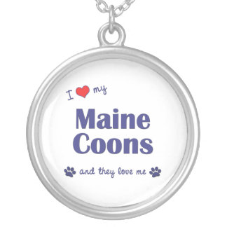 Amo mis Coons de Maine (los gatos múltiples) Colgante Redondo