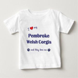 Amo mis Corgis Galés del Pembroke (los perros Playera De Bebé
