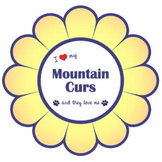Amo mis Curs de la montaña (los perros múltiples) Adorno Fotoescultura
