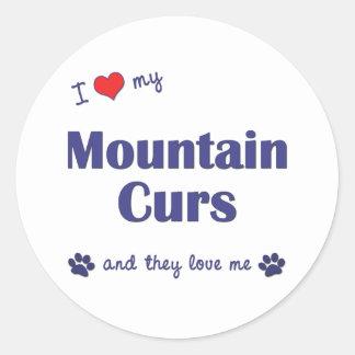 Amo mis Curs de la montaña (los perros múltiples) Pegatina Redonda