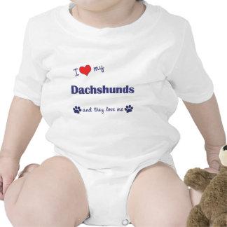 Amo mis Dachshunds (muchos perros) Trajes De Bebé