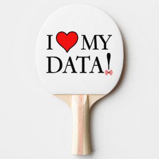 Amo mis datos pala de ping pong