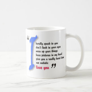 Amo mis diseños autísticos de la taza de la hija