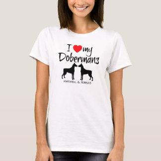 Amo mis Dobermans Playera