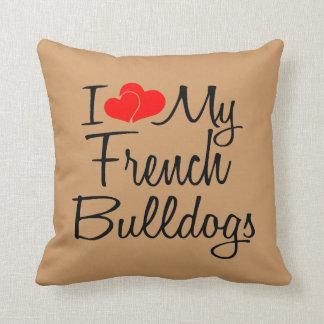 Amo mis dogos franceses almohada