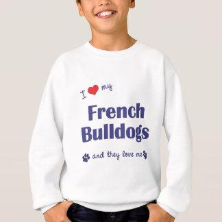 Amo mis dogos franceses (los perros múltiples) playeras