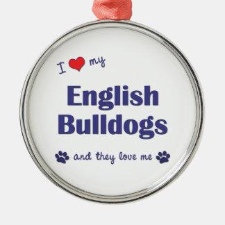 Amo mis dogos ingleses (los perros múltiples) adornos