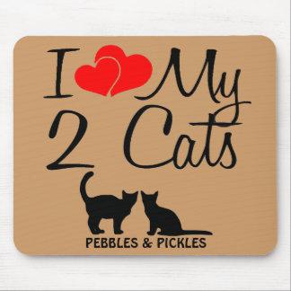 Amo mis dos gatos mousepad