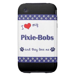 Amo mis Duendecillo-Sacudidas (los gatos Tough iPhone 3 Protector