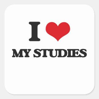 Amo mis estudios colcomanias cuadradass