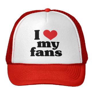 Amo mis fans gorras
