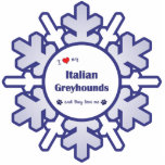 Amo mis galgos italianos (los perros múltiples) escultura fotográfica