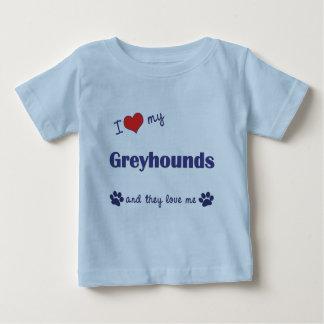 Amo mis galgos (los perros múltiples) camisas