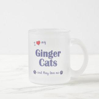 Amo mis gatos del jengibre (los gatos múltiples) taza de café