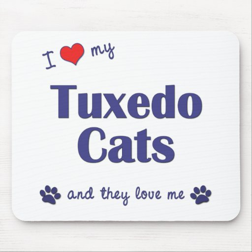 Amo mis gatos del smoking (los gatos múltiples) tapete de ratón