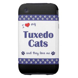 Amo mis gatos del smoking (los gatos múltiples) tough iPhone 3 fundas