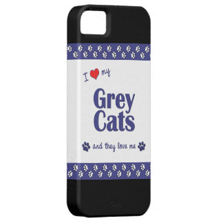 Amo mis gatos grises (los gatos múltiples) iPhone 5 funda