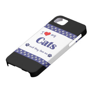 Amo mis gatos (los gatos múltiples) iPhone 5 fundas