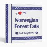 Amo mis gatos noruegos del bosque (los gatos múlti