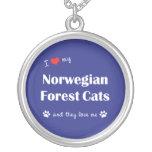 Amo mis gatos noruegos del bosque (los gatos múlti colgantes personalizados