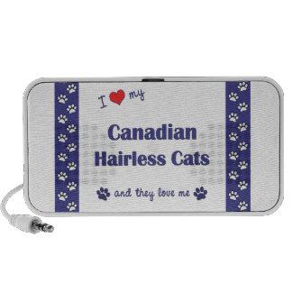 Amo mis gatos sin pelo canadienses los gatos múlt notebook altavoces