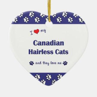 Amo mis gatos sin pelo canadienses los gatos múlt ornato