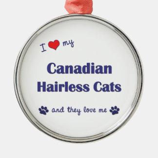 Amo mis gatos sin pelo canadienses los gatos múlt adornos de navidad