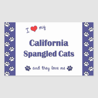Amo mis gatos Spangled California (los gatos Rectangular Altavoces