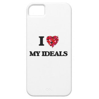Amo mis ideales funda para iPhone 5 barely there