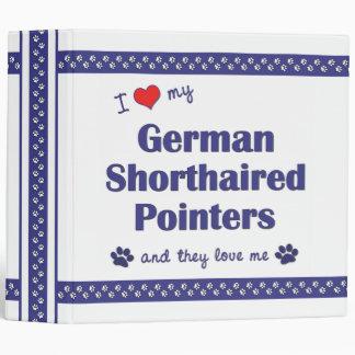 Amo mis indicadores de pelo corto alemanes (los pe