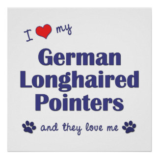 Amo mis indicadores de pelo largo alemanes los pe impresiones