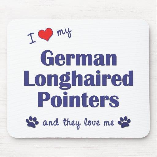 Amo mis indicadores de pelo largo alemanes (los pe alfombrillas de ratón