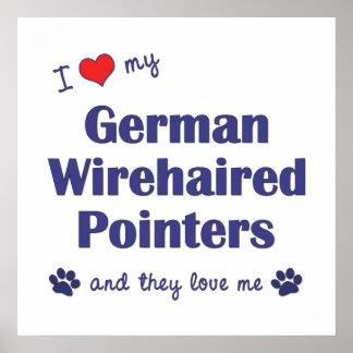 Amo mis indicadores Wirehaired alemanes los perro Posters