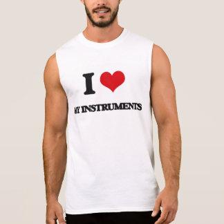 Amo mis instrumentos camiseta sin mangas