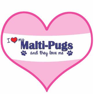Amo mis Malti-Barros amasados los perros múltiple Escultura Fotografica