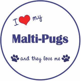 Amo mis Malti-Barros amasados los perros múltiple Escultura Fotográfica