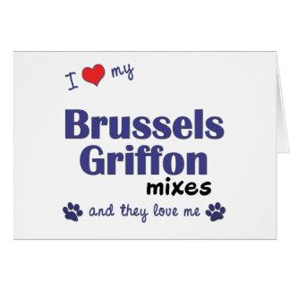 Amo mis mezclas de Bruselas Griffon (los perros mú Tarjeton
