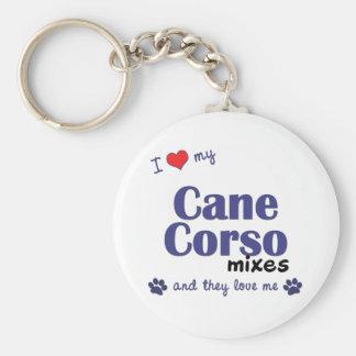 Amo mis mezclas de Corso del bastón (los perros mú Llavero Redondo Tipo Pin