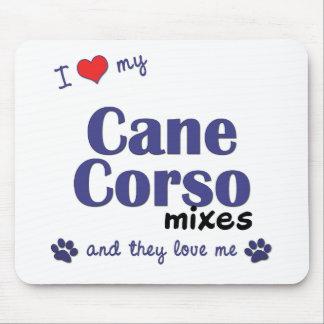 Amo mis mezclas de Corso del bastón (los perros mú Tapete De Ratones