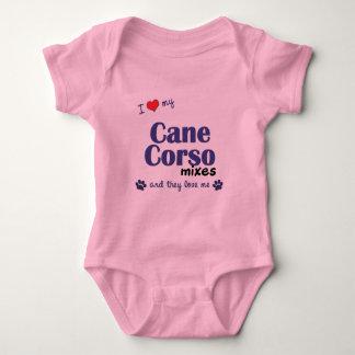 Amo mis mezclas de Corso del bastón (los perros T-shirts