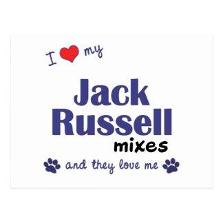 Amo mis mezclas de Jack Russell (los perros Tarjeta Postal