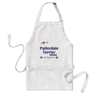Amo mis mezclas de Patterdale Terrier (los perros  Delantal