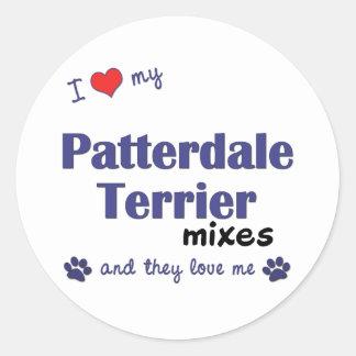 Amo mis mezclas de Patterdale Terrier (los perros Pegatinas Redondas