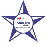 Amo mis mezclas de Shih Tzu (los perros múltiples) Escultura Fotografica