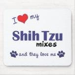 Amo mis mezclas de Shih Tzu (los perros múltiples) Alfombrillas De Raton