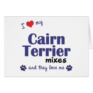 Amo mis mezclas de Terrier de mojón (los perros mú Tarjeta De Felicitación