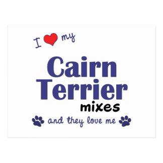 Amo mis mezclas de Terrier de mojón (los perros Postales