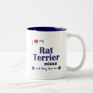 Amo mis mezclas de Terrier de rata (los perros Taza De Dos Tonos