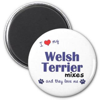 Amo mis mezclas de Terrier galés (los perros múlti Iman Para Frigorífico